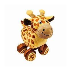 Girafe avec balles de tennis