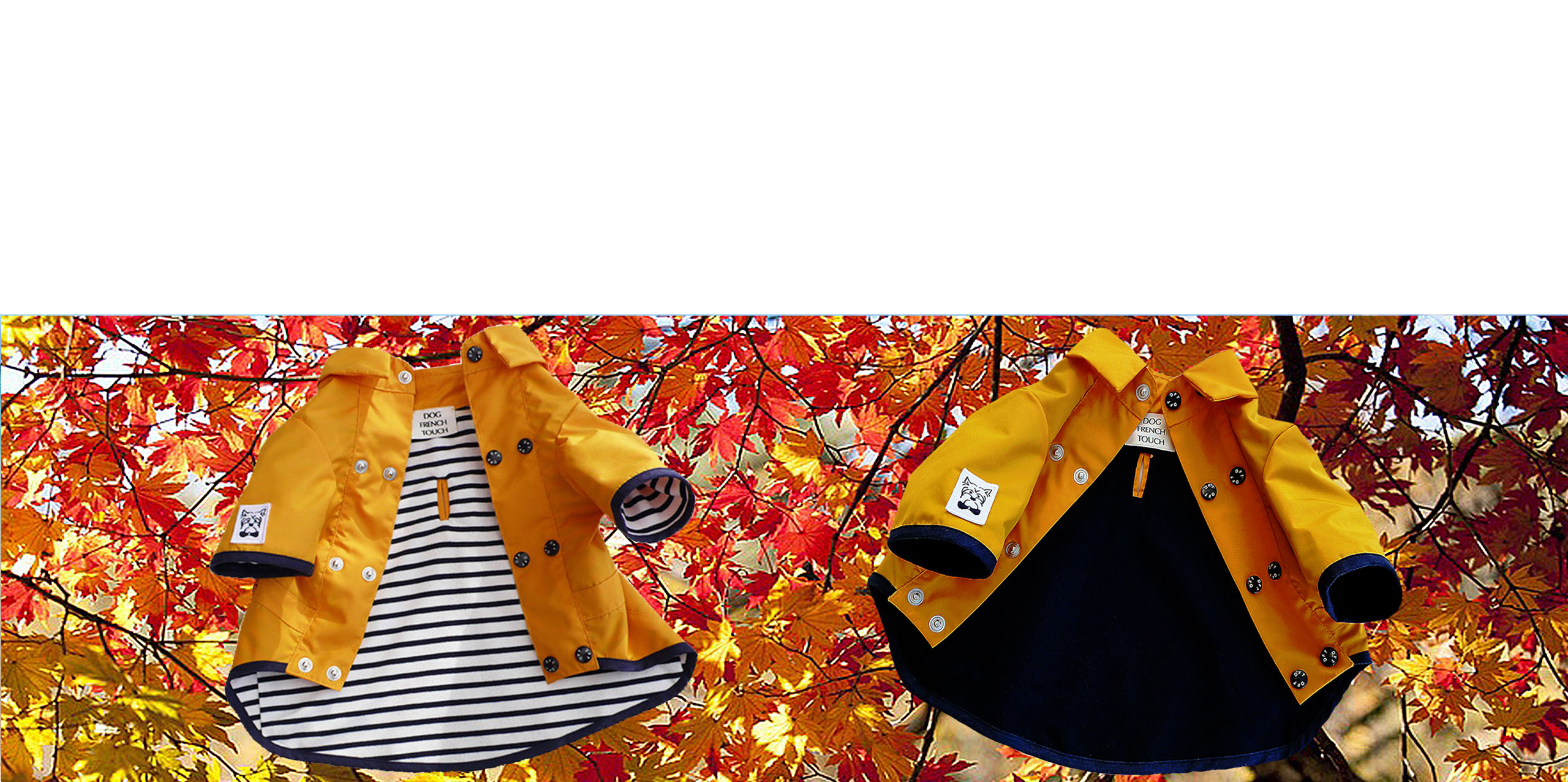 Dog-French-Touch-Imperméables-feuilles-automne